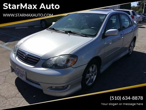 2007 Toyota Corolla for sale at StarMax Auto in Fremont CA