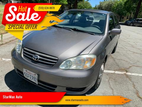 2004 Toyota Corolla for sale at StarMax Auto in Fremont CA