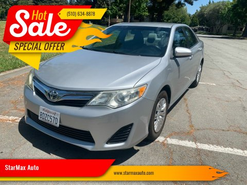 2012 Toyota Camry for sale at StarMax Auto in Fremont CA