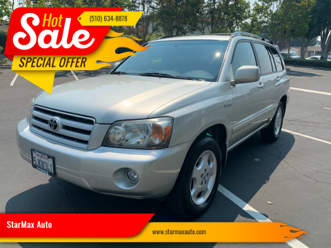 2004 Toyota Highlander for sale at StarMax Auto in Fremont CA