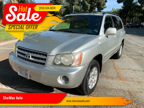 2003 Toyota Highlander for sale at StarMax Auto in Fremont CA