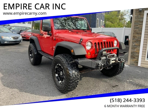 2009 Jeep Wrangler for sale at EMPIRE CAR INC in Troy NY