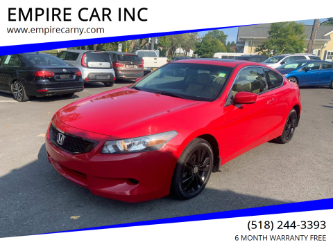 2008 Honda Accord for sale at EMPIRE CAR INC in Troy NY