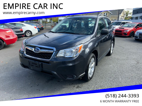 2015 Subaru Forester for sale at EMPIRE CAR INC in Troy NY