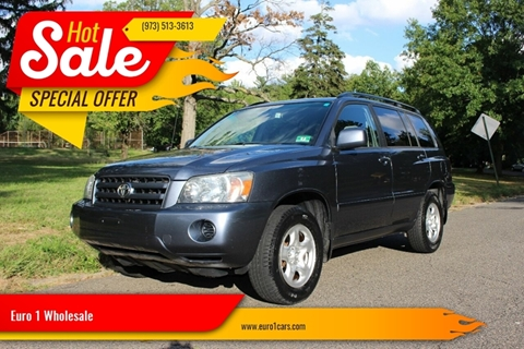 2003 Toyota Highlander for sale at Euro 1 Wholesale in Fords NJ