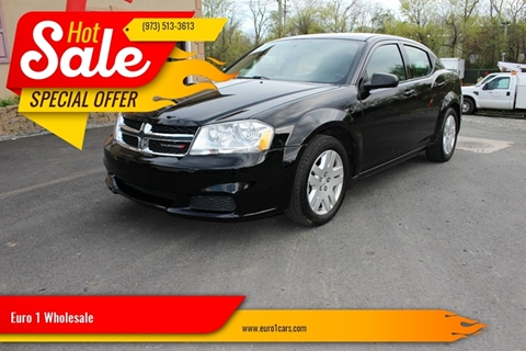 2013 Dodge Avenger for sale at Euro 1 Wholesale in Fords NJ