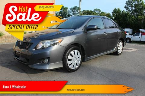 2009 Toyota Corolla for sale at Euro 1 Wholesale in Fords NJ