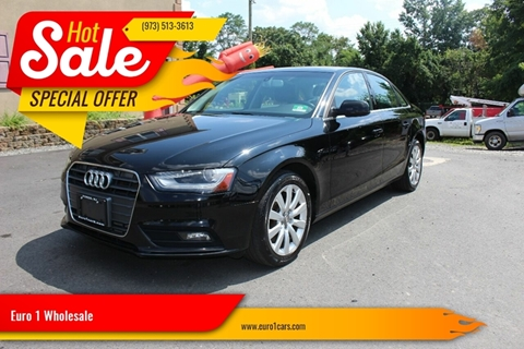 2013 Audi A4 for sale at Euro 1 Wholesale in Fords NJ