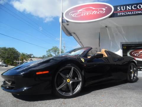 2013 Ferrari 458 Spider for sale at Suncoast Exotics in Sarasota FL