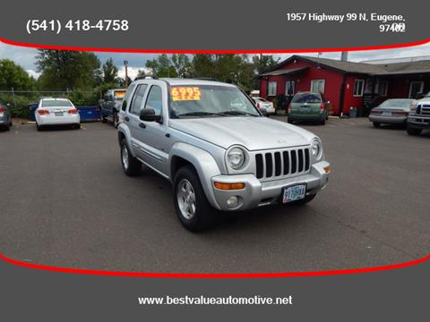 2003 Jeep Liberty for sale in Eugene, OR