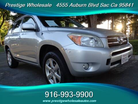 2008 Toyota RAV4 for sale at Prestige Wholesale in Sacramento CA