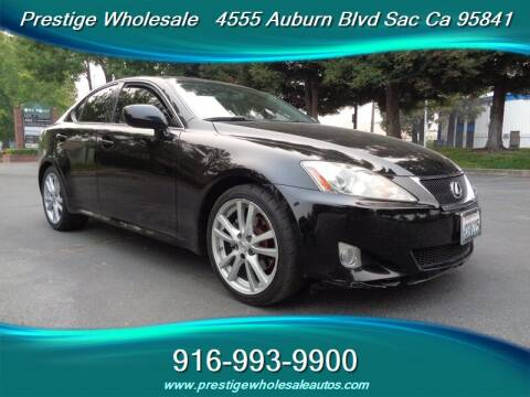 2007 Lexus IS 250 for sale at Prestige Wholesale in Sacramento CA