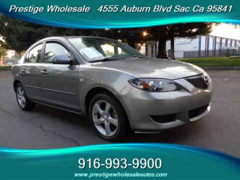 2006 Mazda MAZDA3 for sale at Prestige Wholesale in Sacramento CA