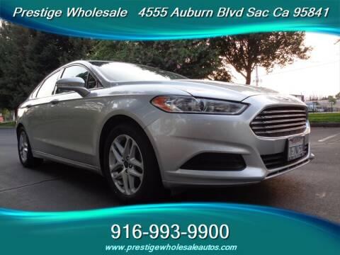 2014 Ford Fusion for sale at Prestige Wholesale in Sacramento CA