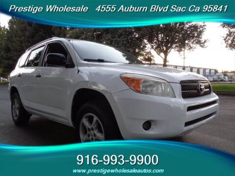 2007 Toyota RAV4 for sale at Prestige Wholesale in Sacramento CA
