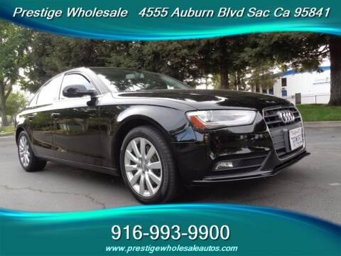 2013 Audi A4 for sale at Prestige Wholesale in Sacramento CA