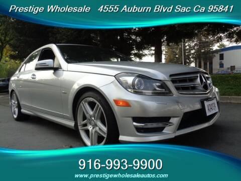 2012 Mercedes-Benz C-Class for sale at Prestige Wholesale in Sacramento CA