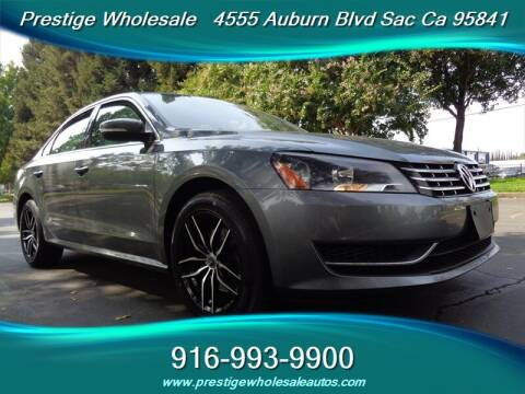 2014 Volkswagen Passat for sale at Prestige Wholesale in Sacramento CA
