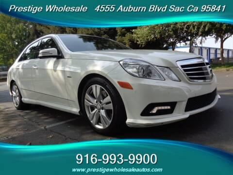 2011 Mercedes-Benz E-Class for sale at Prestige Wholesale in Sacramento CA