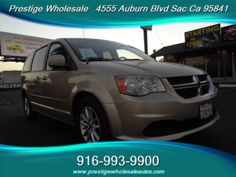 2014 Dodge Grand Caravan for sale at Prestige Wholesale in Sacramento CA