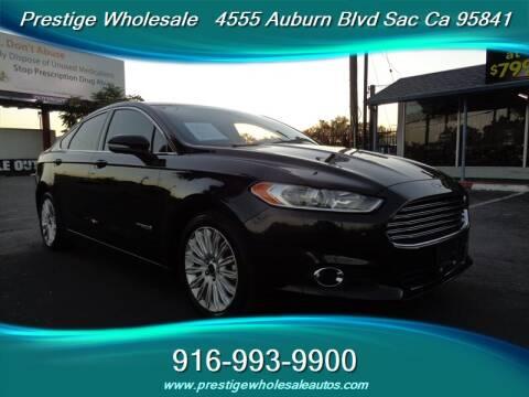 2015 Ford Fusion Hybrid for sale at Prestige Wholesale in Sacramento CA