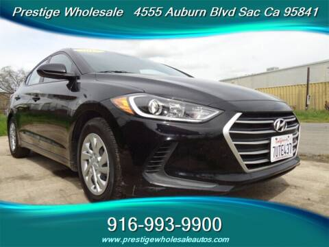 2017 Hyundai Elantra for sale at Prestige Wholesale in Sacramento CA