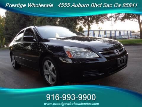 2006 Honda Accord for sale at Prestige Wholesale in Sacramento CA