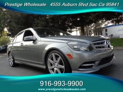 2011 Mercedes-Benz C-Class for sale at Prestige Wholesale in Sacramento CA