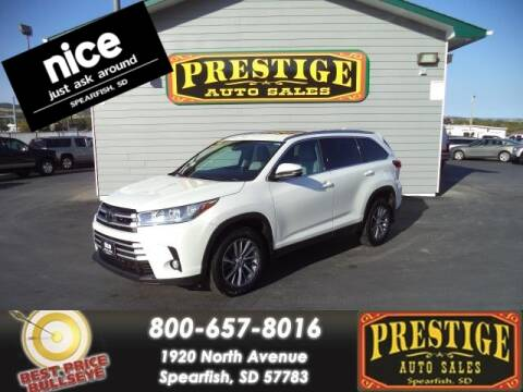 2019 Toyota Highlander for sale at PRESTIGE AUTO SALES in Spearfish SD