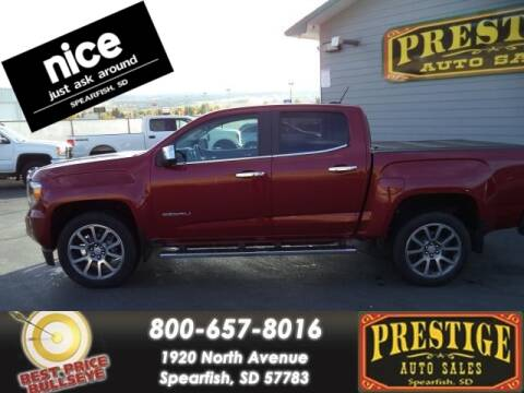 2019 GMC Canyon for sale at PRESTIGE AUTO SALES in Spearfish SD
