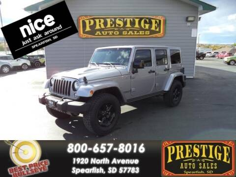 2015 Jeep Wrangler Unlimited for sale at PRESTIGE AUTO SALES in Spearfish SD