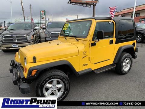 2000 Jeep Wrangler for sale in Las Vegas, NV