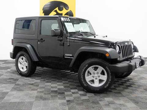2015 Jeep Wrangler for sale at Carousel Auto Group in Iowa City IA