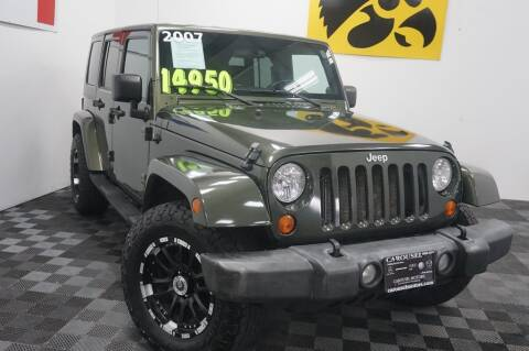 2007 Jeep Wrangler Unlimited for sale at Carousel Auto Group in Iowa City IA