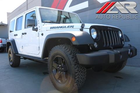 2016 Jeep Wrangler Unlimited for sale in Cypress, CA