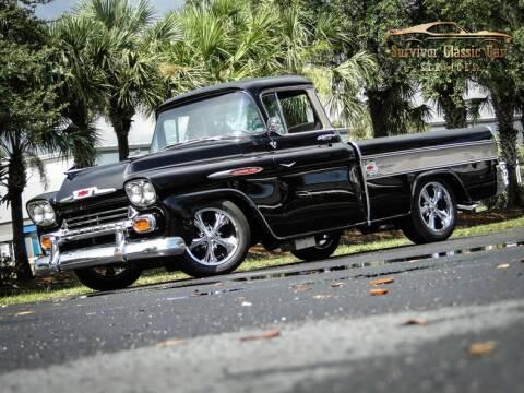 1958 Chevrolet Cameo for sale at SURVIVOR CLASSIC CAR SERVICES in Palmetto FL