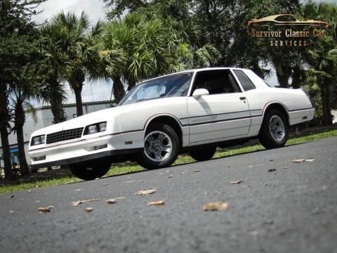 1986 Chevrolet Monte Carlo for sale at SURVIVOR CLASSIC CAR SERVICES in Palmetto FL