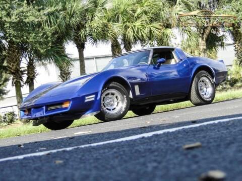 1982 Chevrolet Corvette for sale at SURVIVOR CLASSIC CAR SERVICES in Palmetto FL
