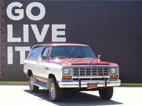 1984 Dodge Ramcharger For Sale In Birmingham Al