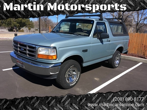 1996 Ford Bronco for sale at Martin Motorsports in Star ID