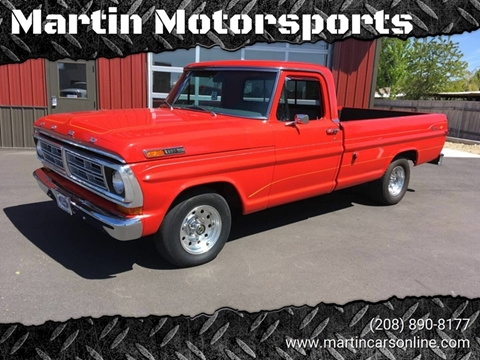1972 Ford F-100 for sale at Martin Motorsports in Star ID