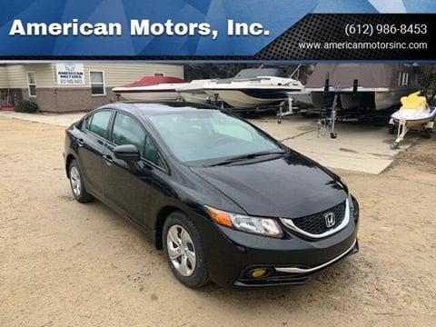 2015 Honda Civic for sale at American Motors, Inc. in Farmington MN