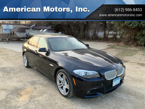 2013 BMW 5 Series for sale at American Motors, Inc. in Farmington MN
