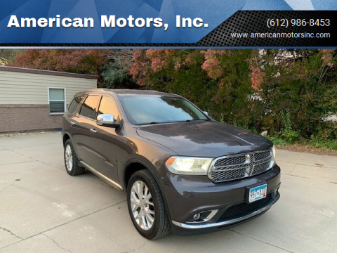 2014 Dodge Durango for sale at American Motors, Inc. in Farmington MN