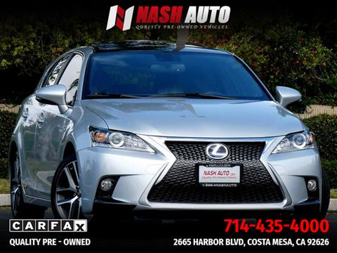 2016 Lexus CT 200h for sale in Costa Mesa, CA