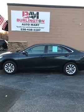2016 Toyota Camry for sale at Burlington Auto Mart in Burlington NC