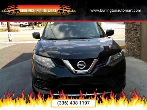 2016 Nissan Rogue for sale at Burlington Auto Mart in Burlington NC