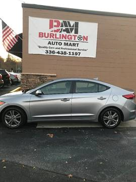 2017 Hyundai Elantra for sale at Burlington Auto Mart in Burlington NC