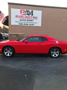 2016 Dodge Challenger for sale at Burlington Auto Mart in Burlington NC