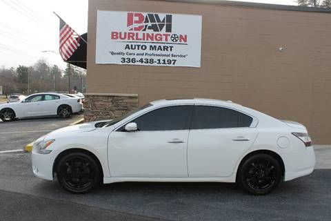 2012 Nissan Maxima for sale at Burlington Auto Mart in Burlington NC